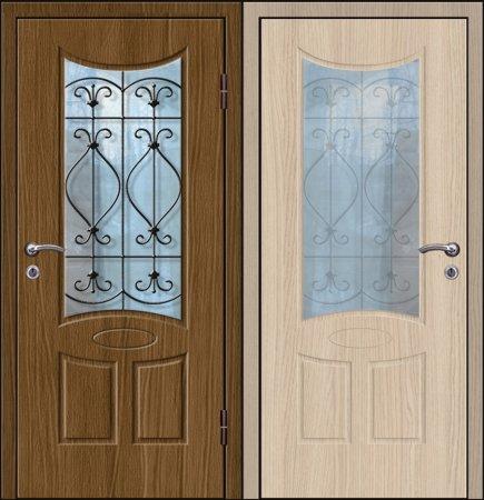 Двухлистовая металлическая дверь - 18-19