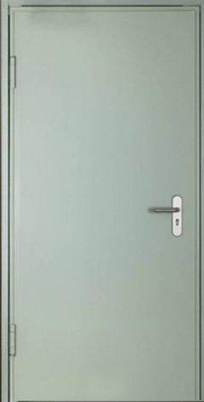 Двухлистовая металлическая дверь - 18-21