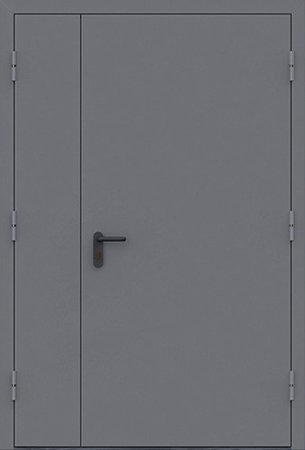 Двухлистовая металлическая дверь - 18-23
