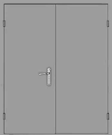Двухлистовая металлическая дверь - 18-26