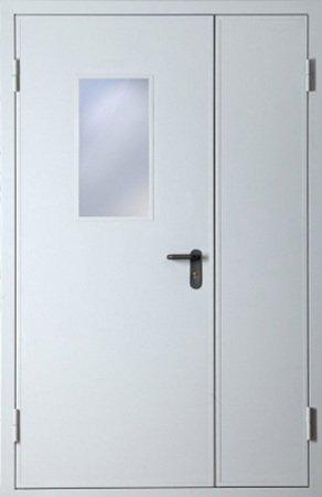 Двухлистовая металлическая дверь - 18-28