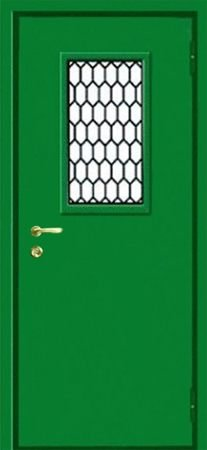 Двухлистовая металлическая дверь - 18-29