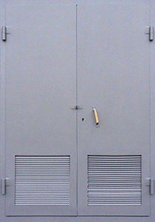 Двухлистовая металлическая дверь - 18-31