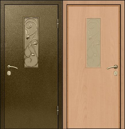 Входная металлическая дверь - СТР-001